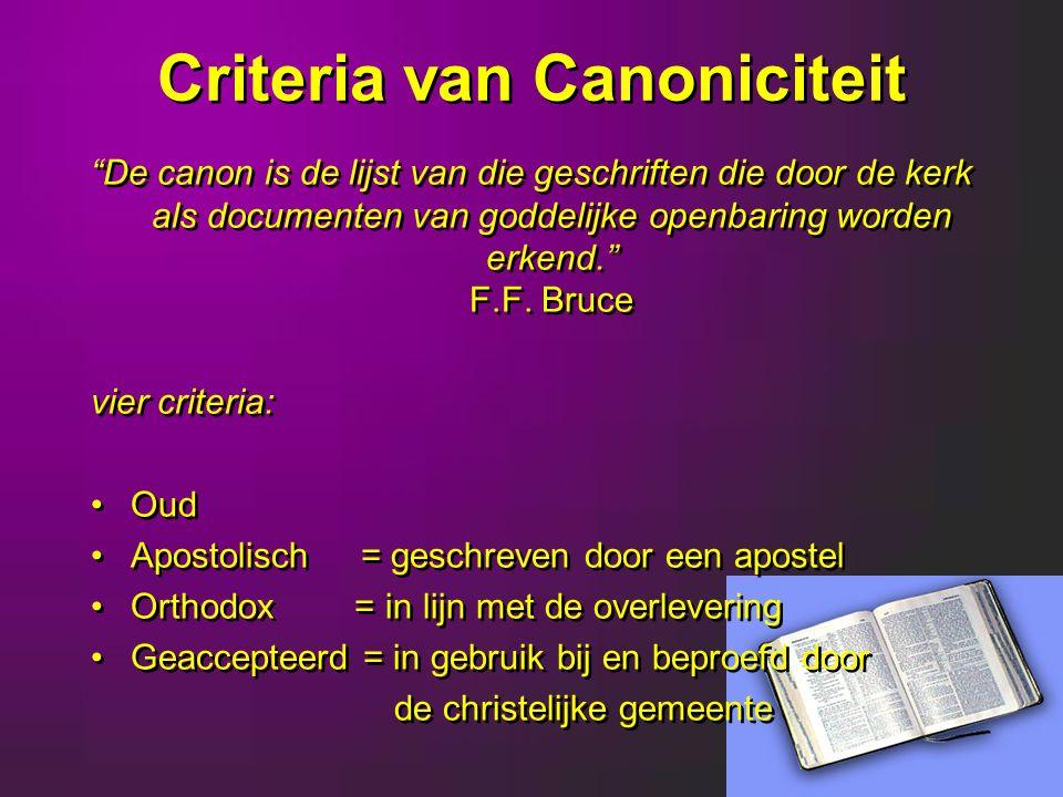 Criteria van Canoniciteit