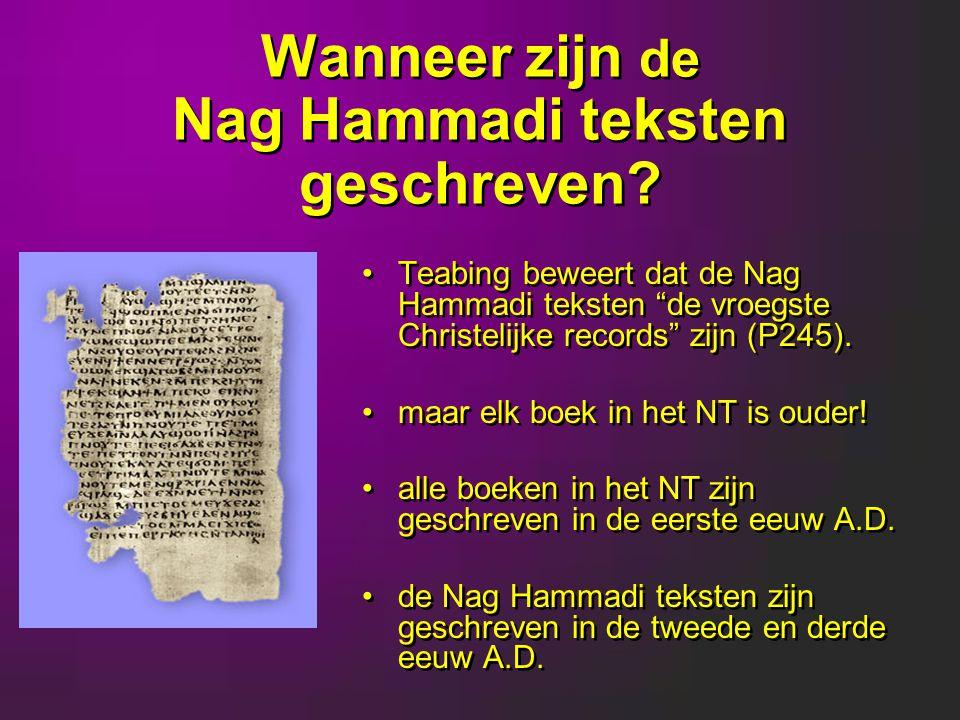 Wanneer zijn de Nag Hammadi teksten geschreven