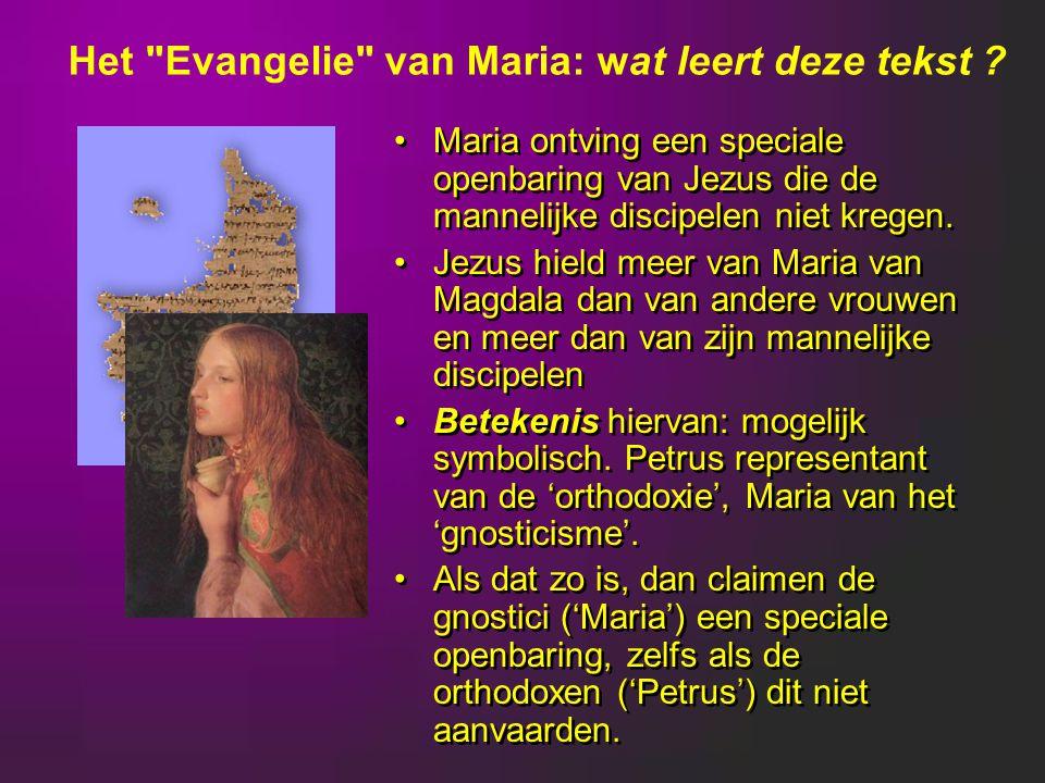 Het Evangelie van Maria: wat leert deze tekst