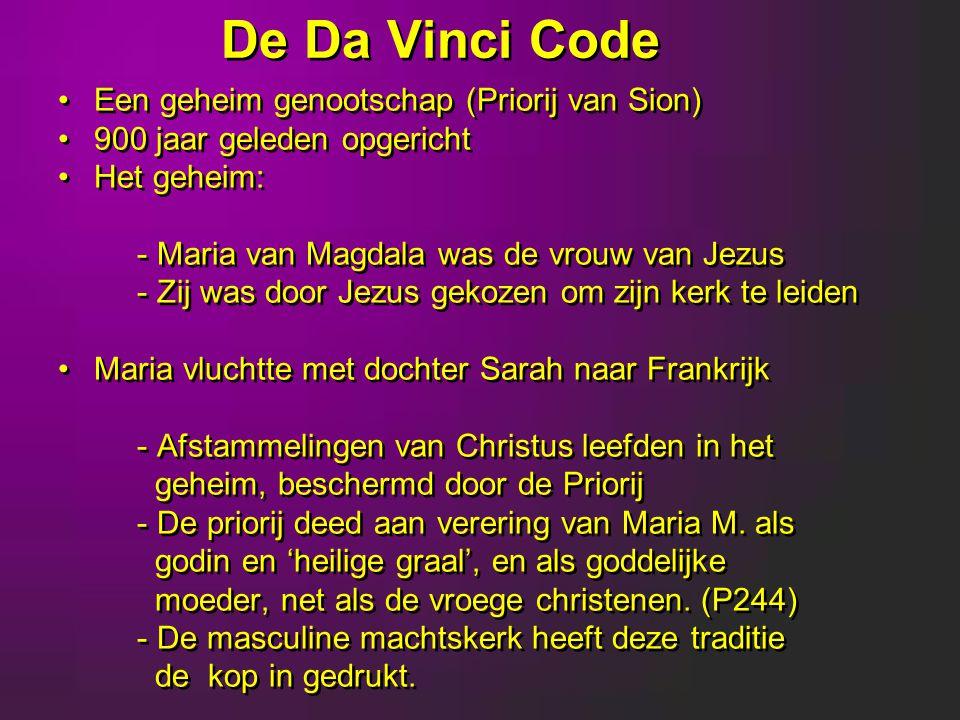 De Da Vinci Code Een geheim genootschap (Priorij van Sion)