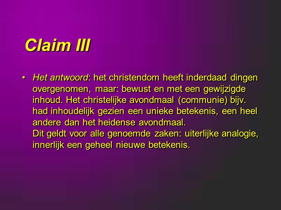 Claim III