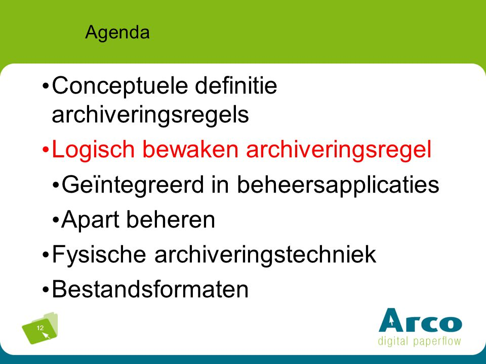 Conceptuele definitie archiveringsregels