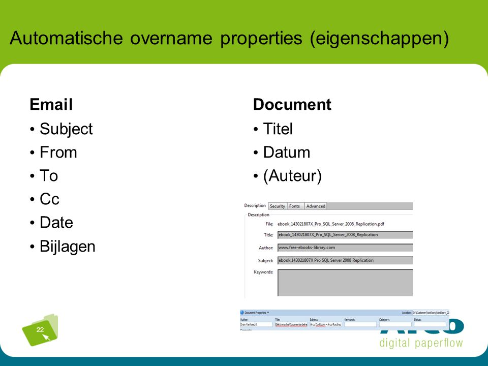 Automatische overname properties (eigenschappen)