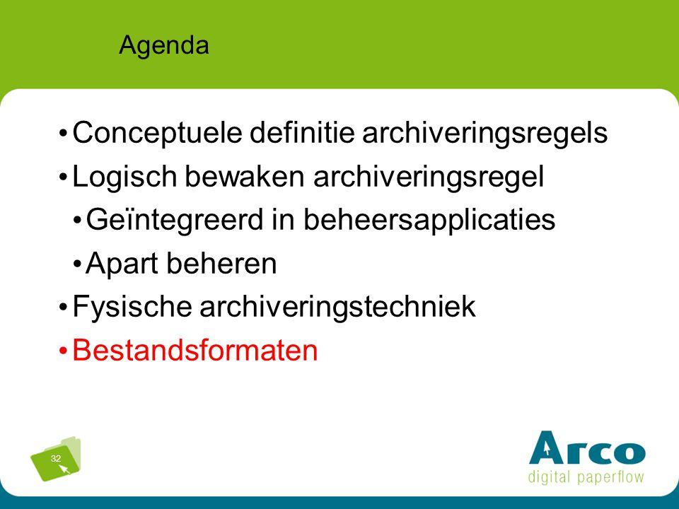 Conceptuele definitie archiveringsregels