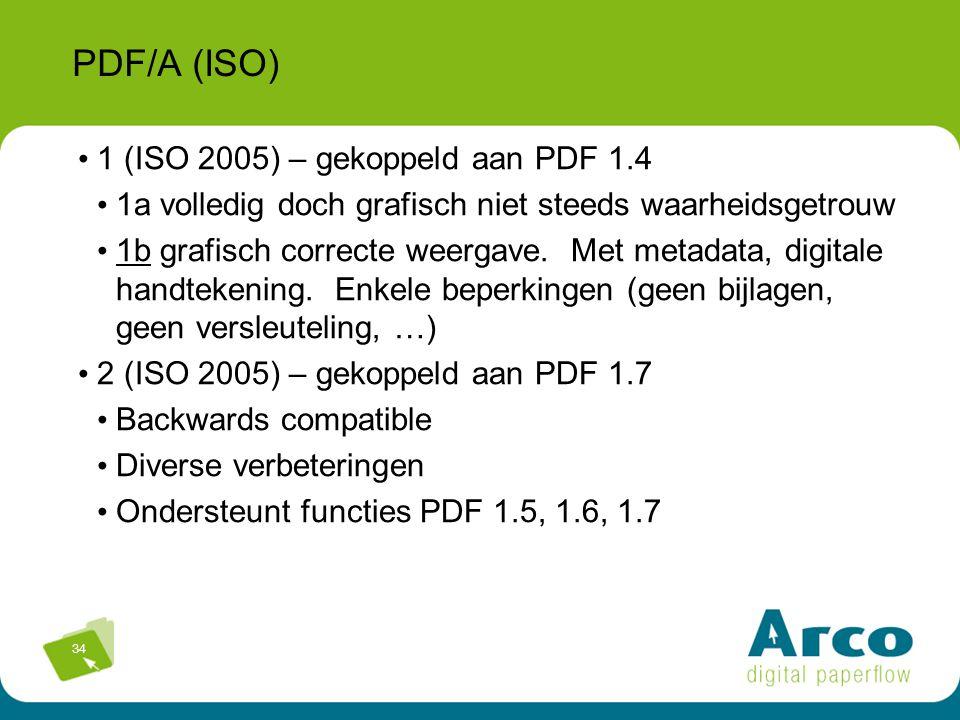 PDF/A (ISO) 1 (ISO 2005) – gekoppeld aan PDF 1.4
