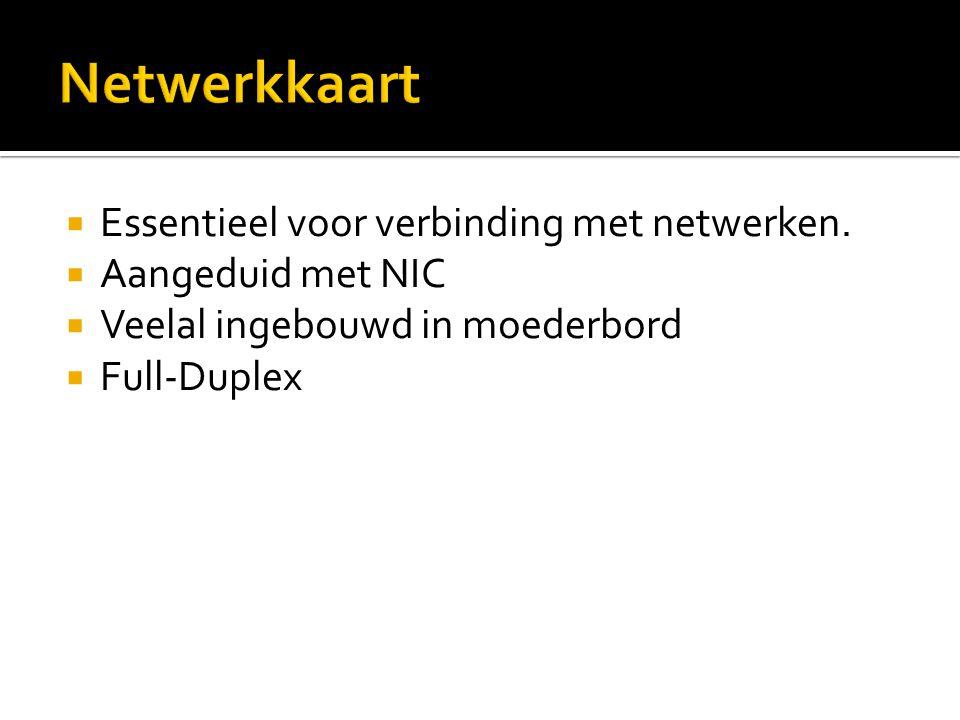 Netwerkkaart Essentieel voor verbinding met netwerken.