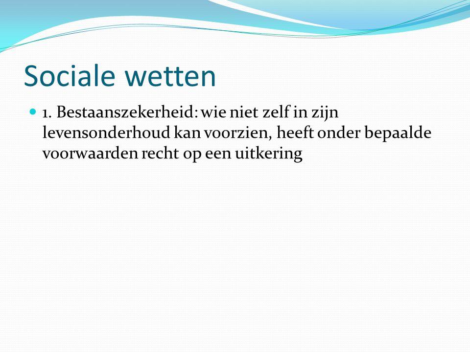 Sociale wetten 1.