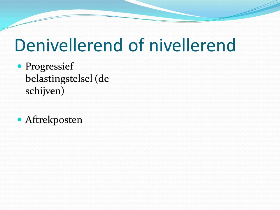 Denivellerend of nivellerend