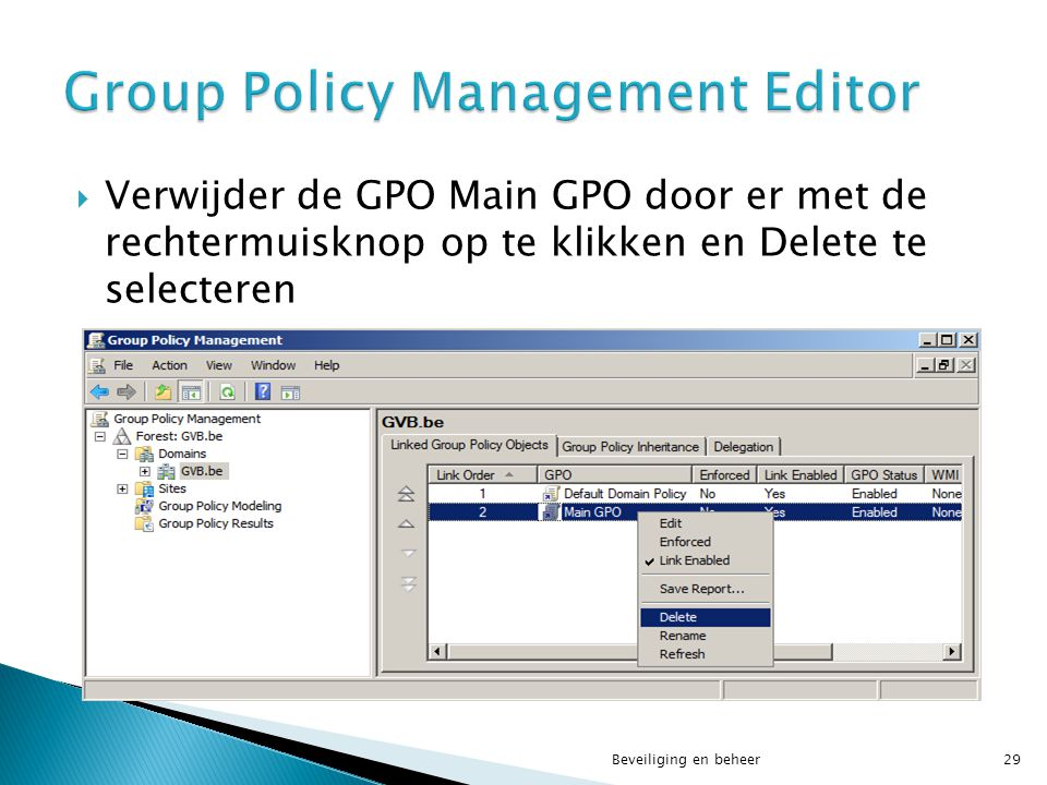 Group Policy Management Editor