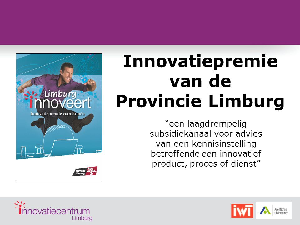 Innovatiepremie van de Provincie Limburg