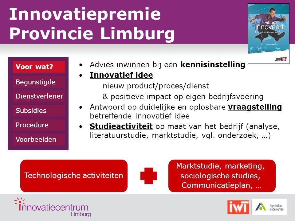 Innovatiepremie Provincie Limburg