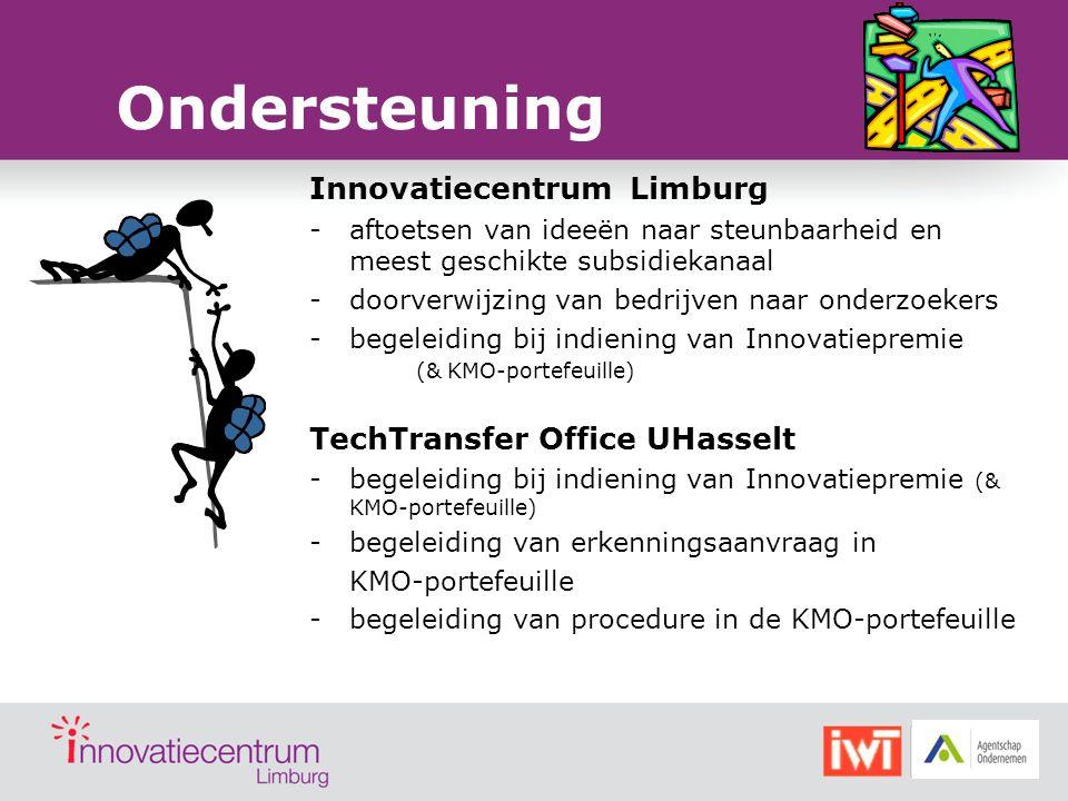Ondersteuning Innovatiecentrum Limburg TechTransfer Office UHasselt