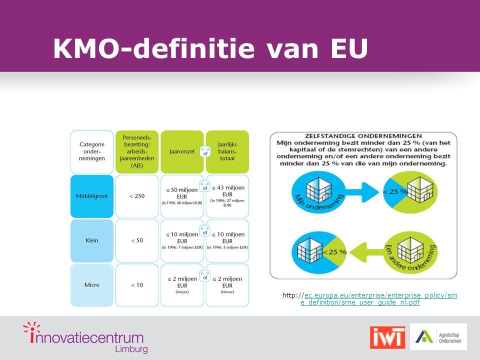 KMO-definitie van EU http://ec.europa.eu/enterprise/enterprise_policy/sme_definition/sme_user_guide_nl.pdf.