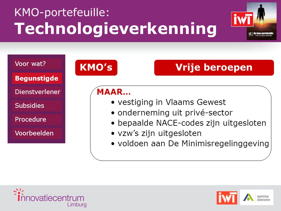 KMO-portefeuille: Technologieverkenning