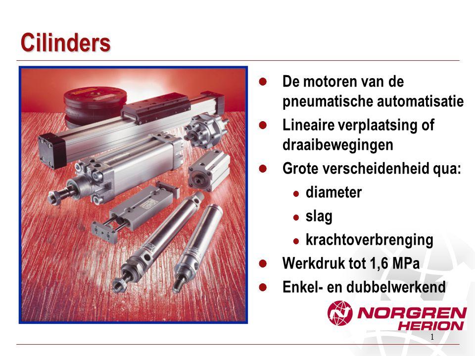 Cilinders De motoren van de pneumatische automatisatie