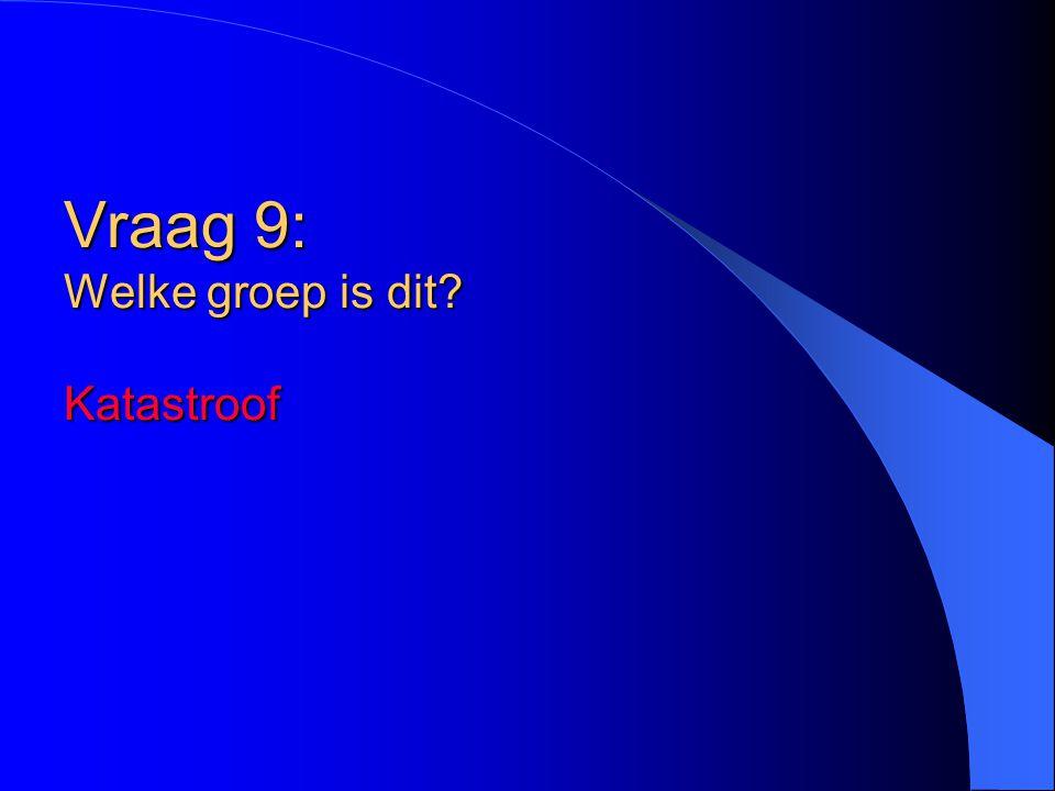 Vraag 9: Welke groep is dit Katastroof