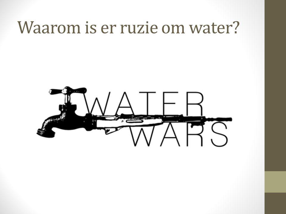 Waarom is er ruzie om water