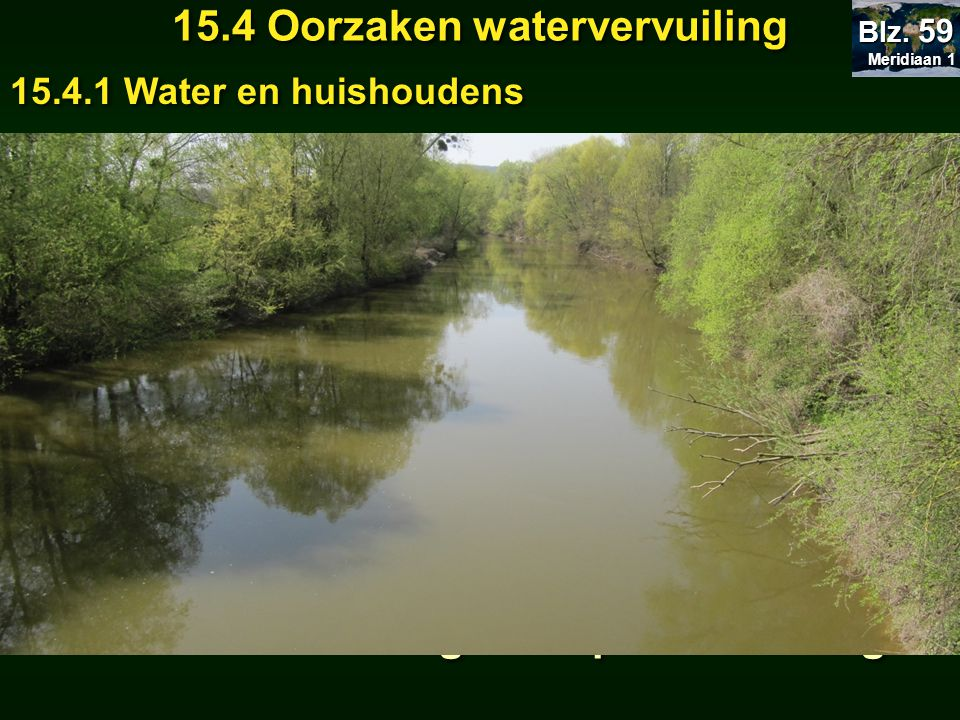 15.4 Oorzaken watervervuiling Huishoudelijk afvalwater