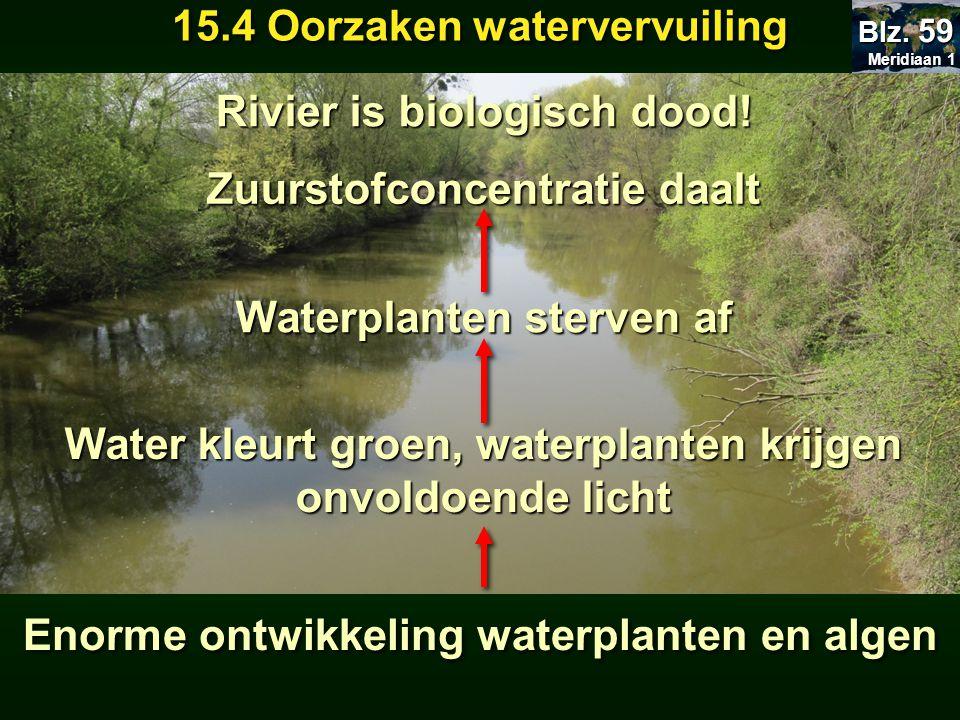 15.4 Oorzaken watervervuiling Rivier is biologisch dood!
