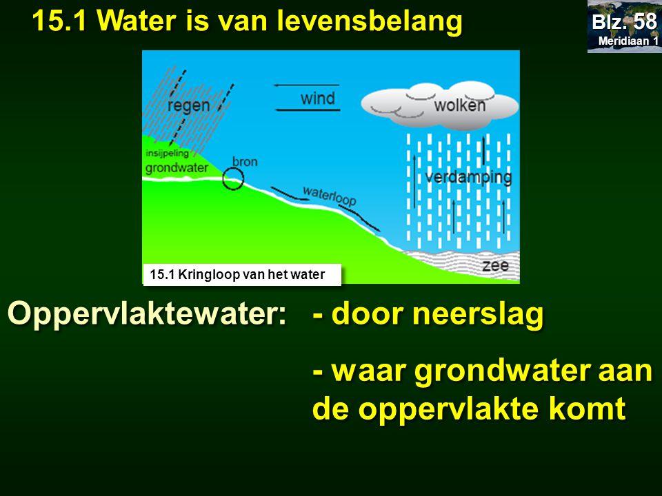 - waar grondwater aan de oppervlakte komt
