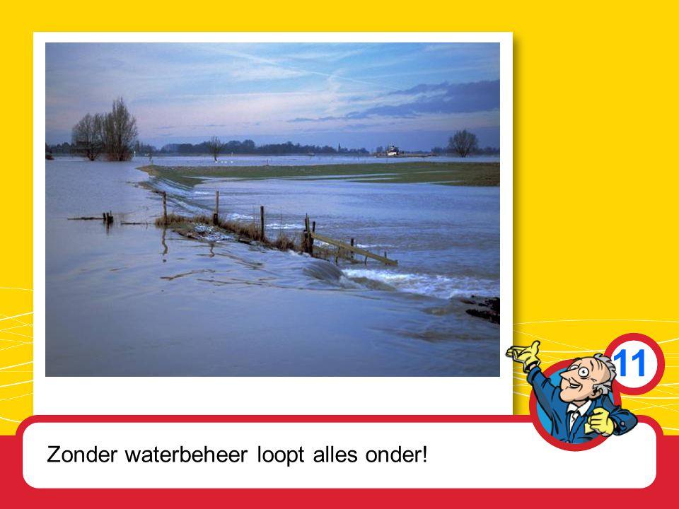 11 Zonder waterbeheer loopt alles onder!