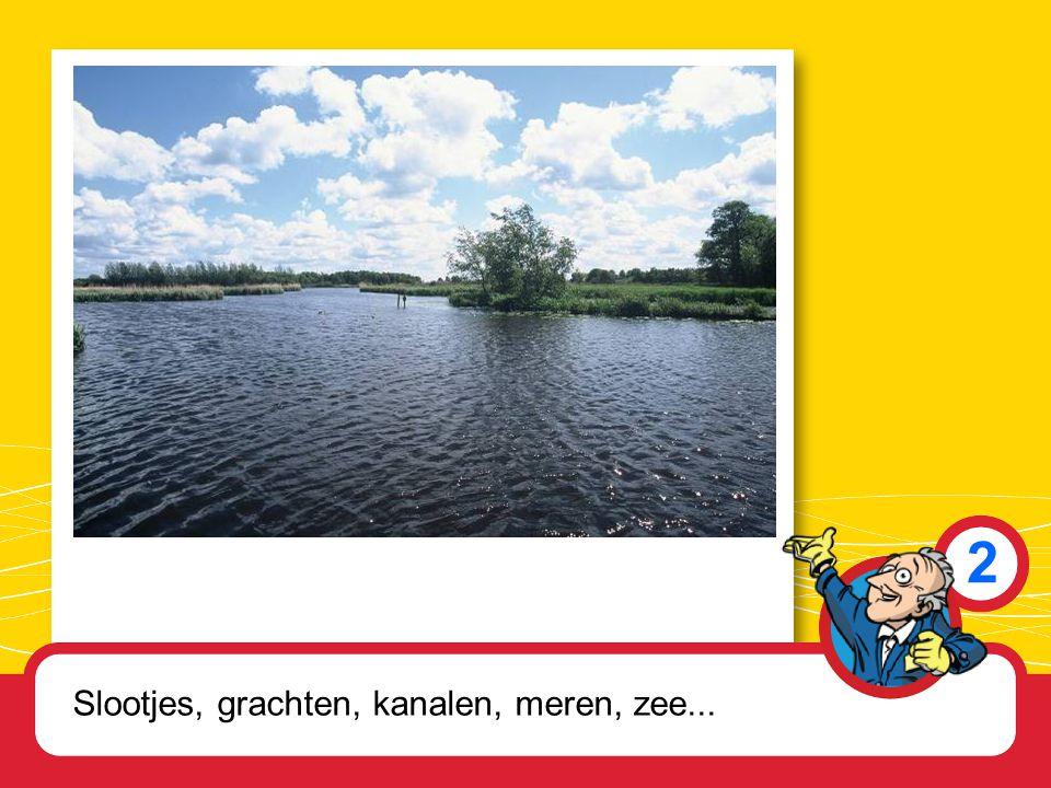 2 Slootjes, grachten, kanalen, meren, zee...