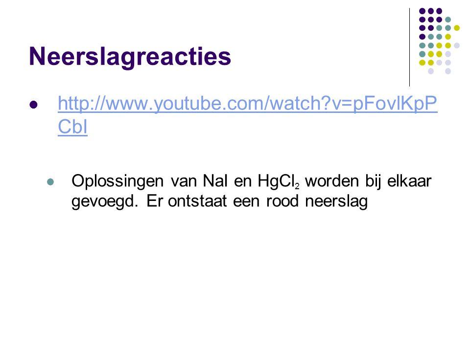 Neerslagreacties http://www.youtube.com/watch v=pFovlKpPCbI