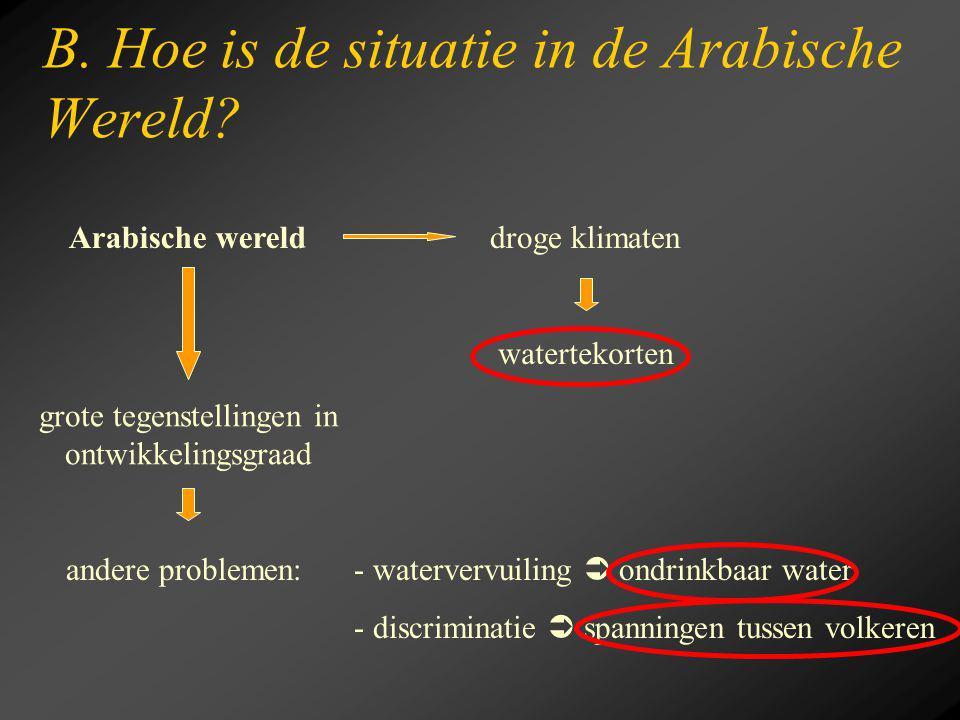 B. Hoe is de situatie in de Arabische Wereld