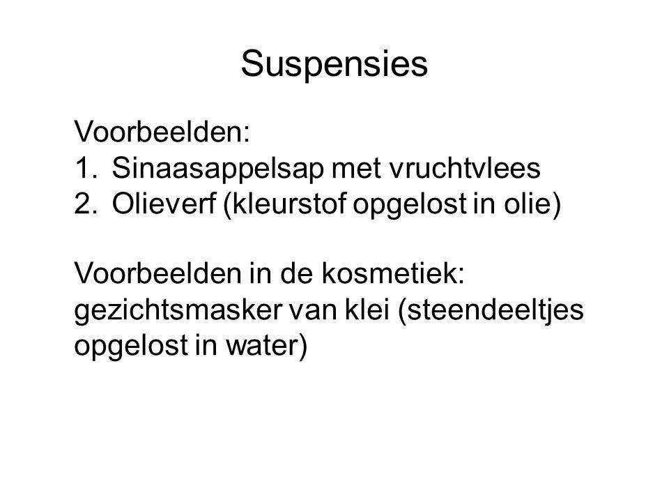 Suspensies Voorbeelden: Sinaasappelsap met vruchtvlees