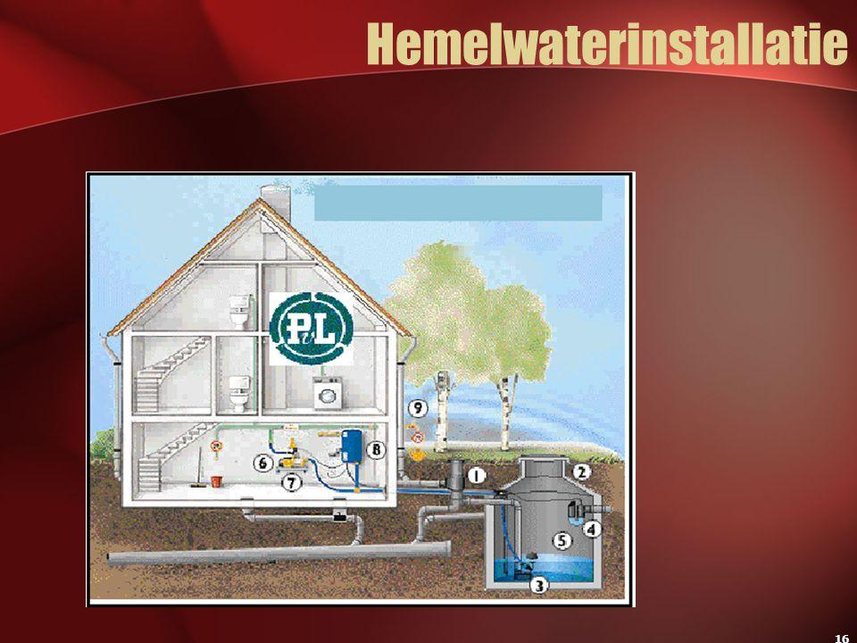 Hemelwaterinstallatie