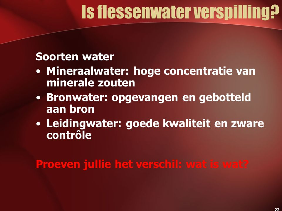 Is flessenwater verspilling
