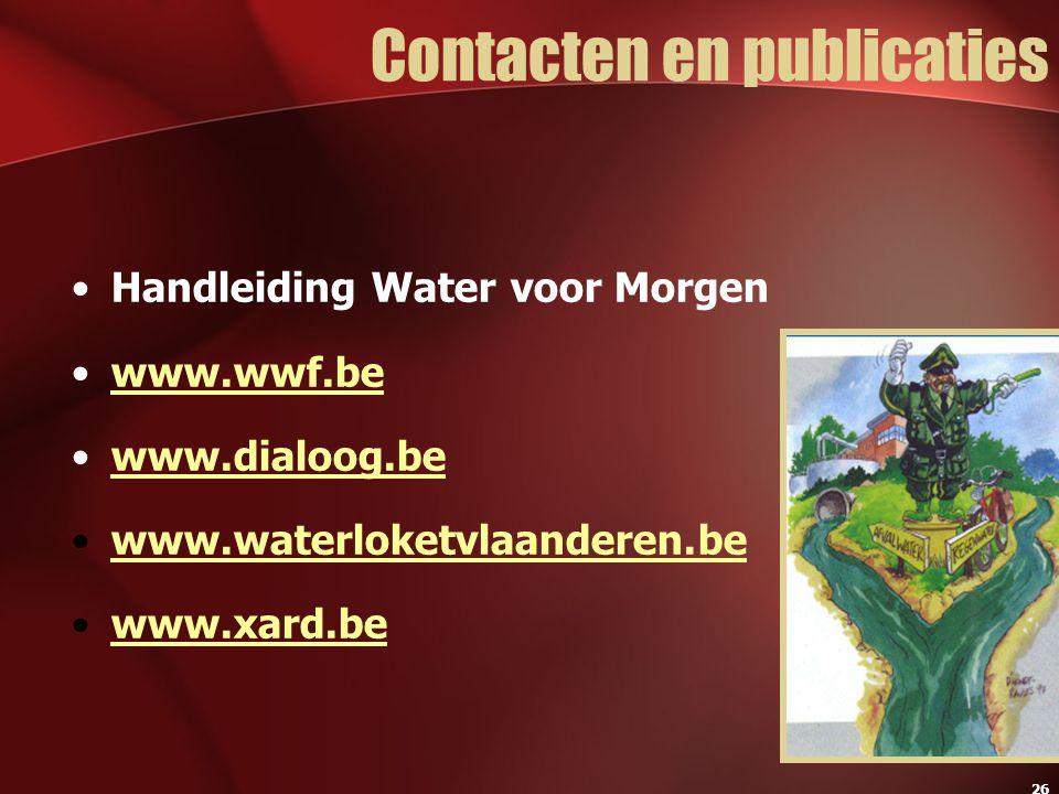 Contacten en publicaties