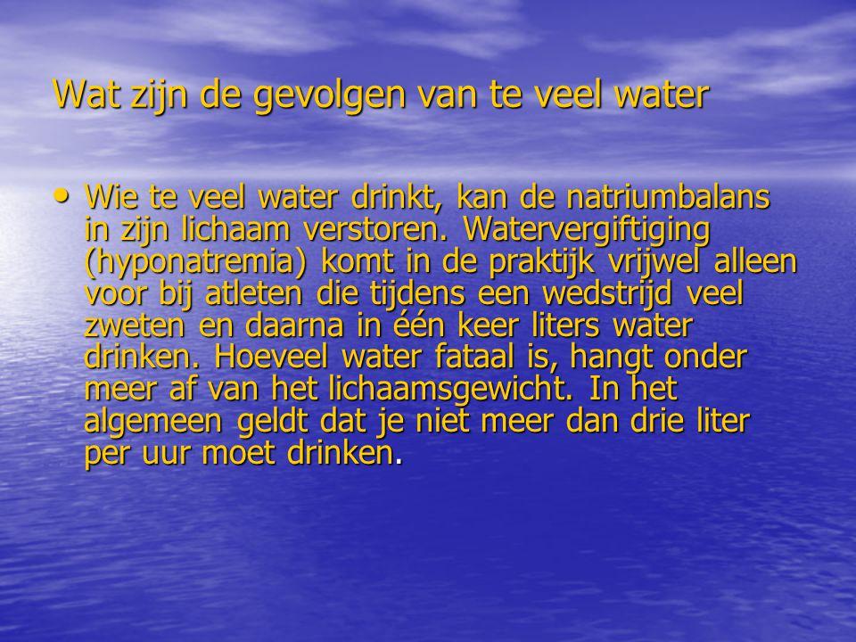Wat zijn de gevolgen van te veel water