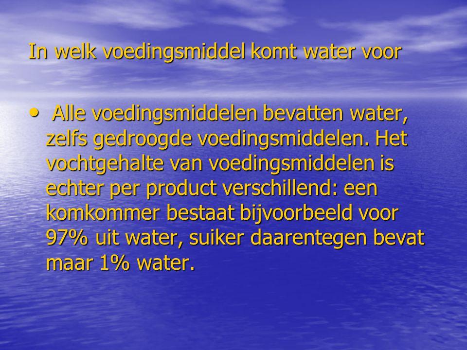 In welk voedingsmiddel komt water voor