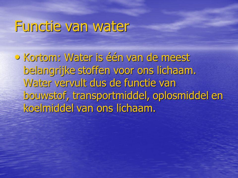 Functie van water