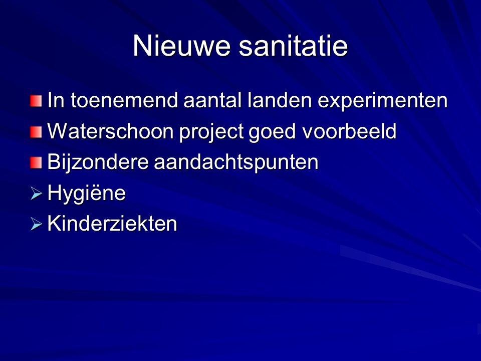 Nieuwe sanitatie In toenemend aantal landen experimenten
