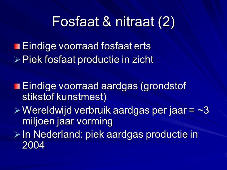 Fosfaat & nitraat (2) Eindige voorraad fosfaat erts