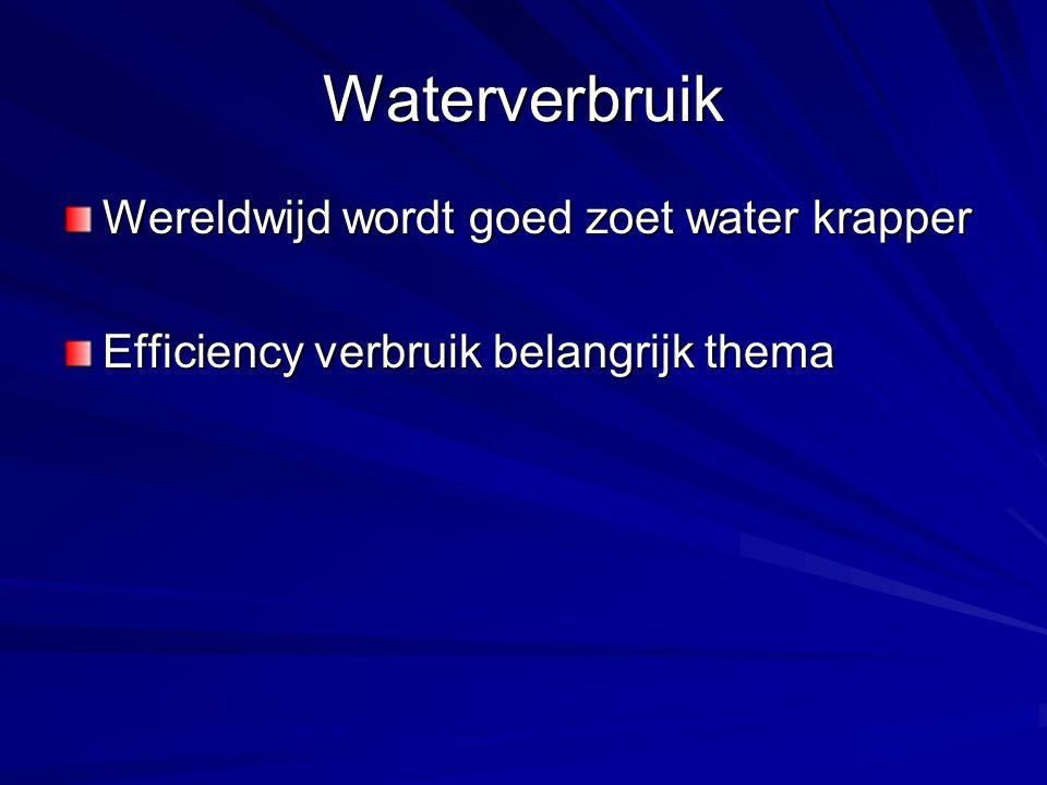 Waterverbruik Wereldwijd wordt goed zoet water krapper