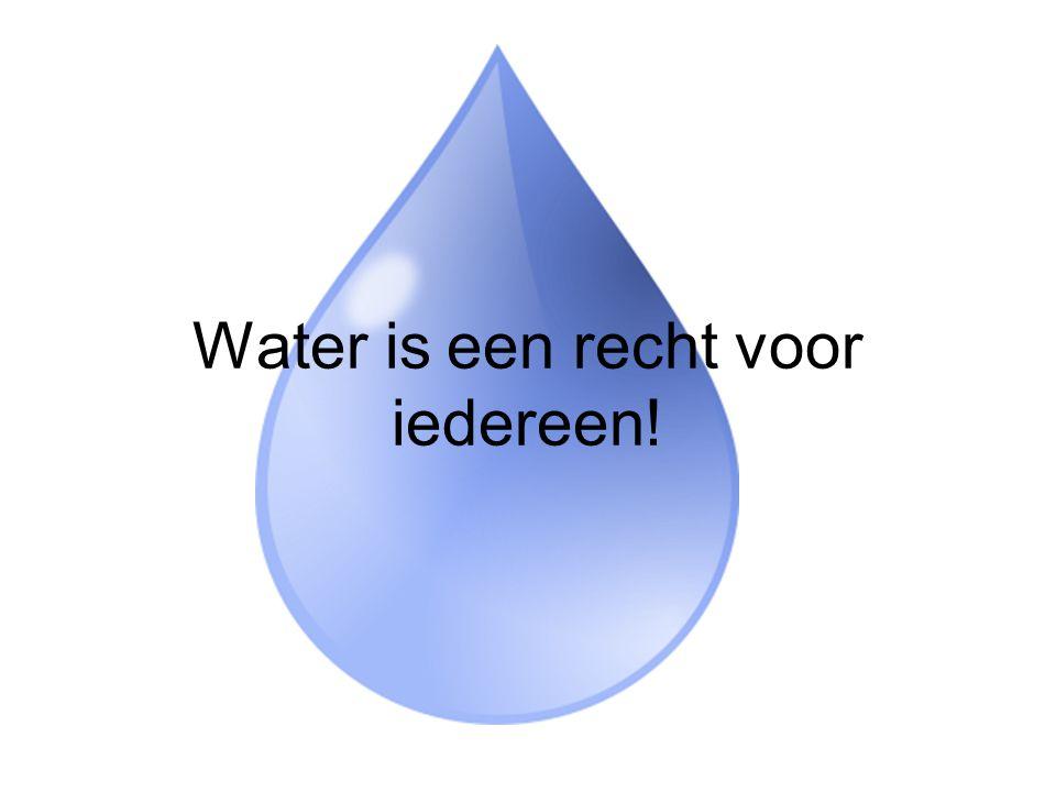 Water is een recht voor iedereen!