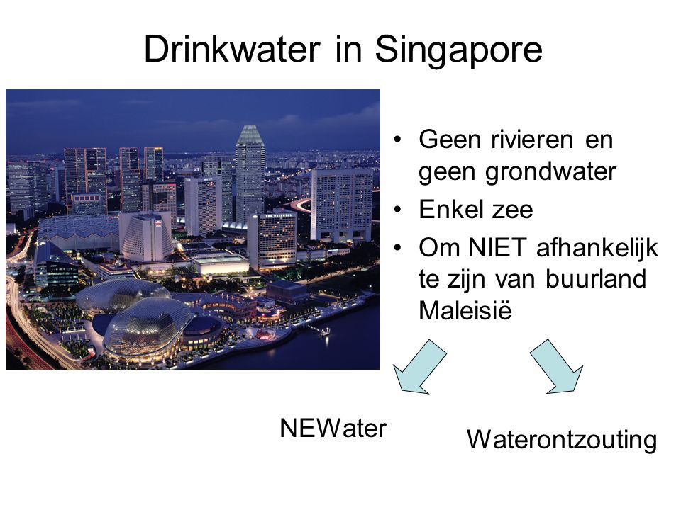 Drinkwater in Singapore