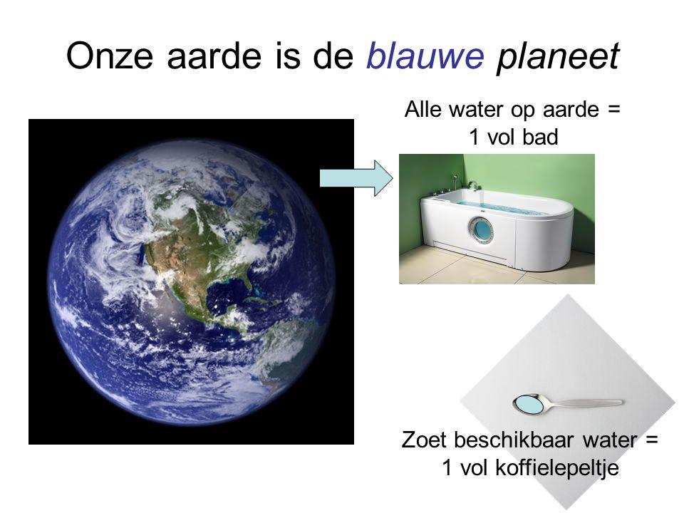 Onze aarde is de blauwe planeet