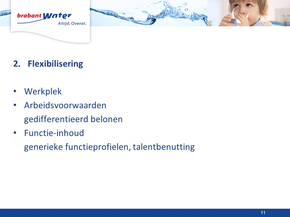 Flexibilisering Werkplek. Arbeidsvoorwaarden. gedifferentieerd belonen.