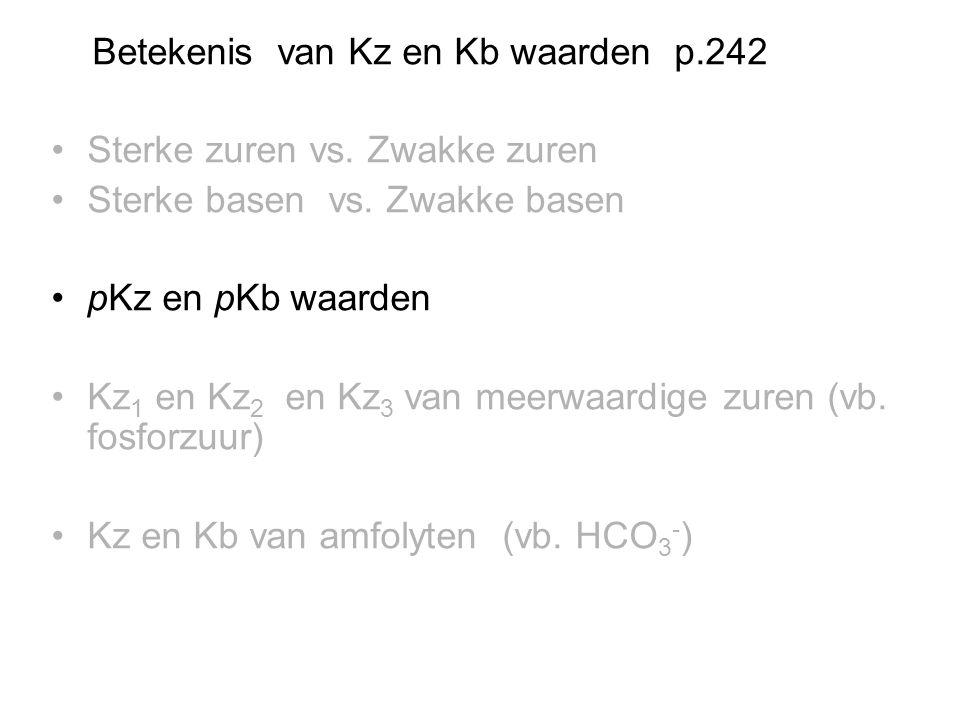 Betekenis van Kz en Kb waarden p.242