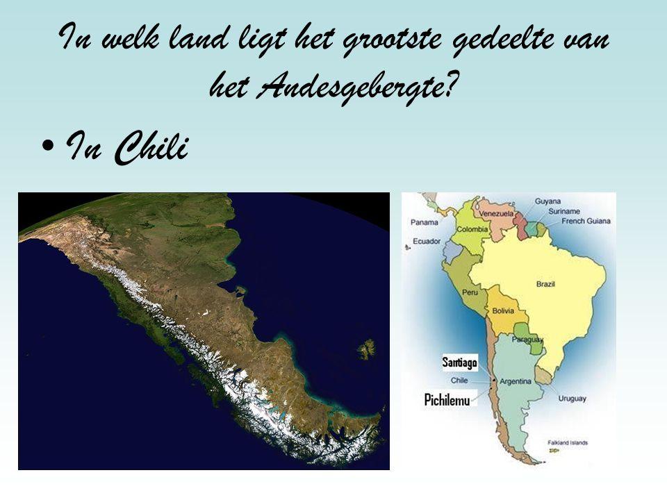 In welk land ligt het grootste gedeelte van het Andesgebergte