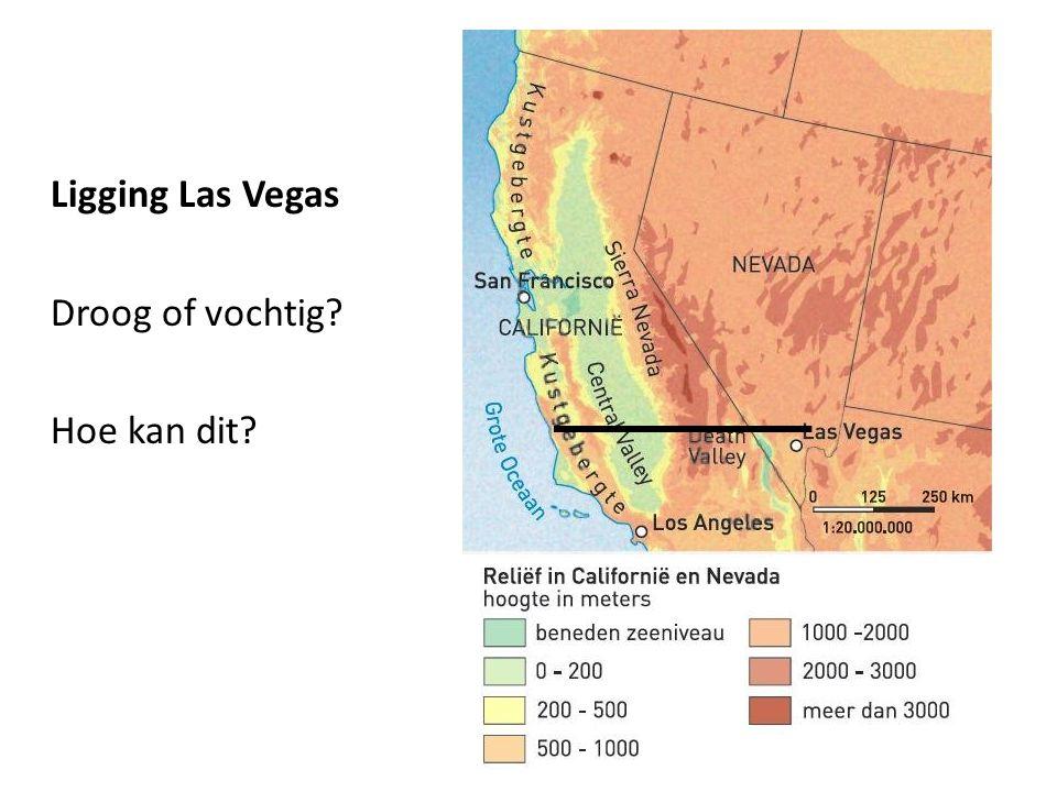 Ligging Las Vegas Droog of vochtig Hoe kan dit