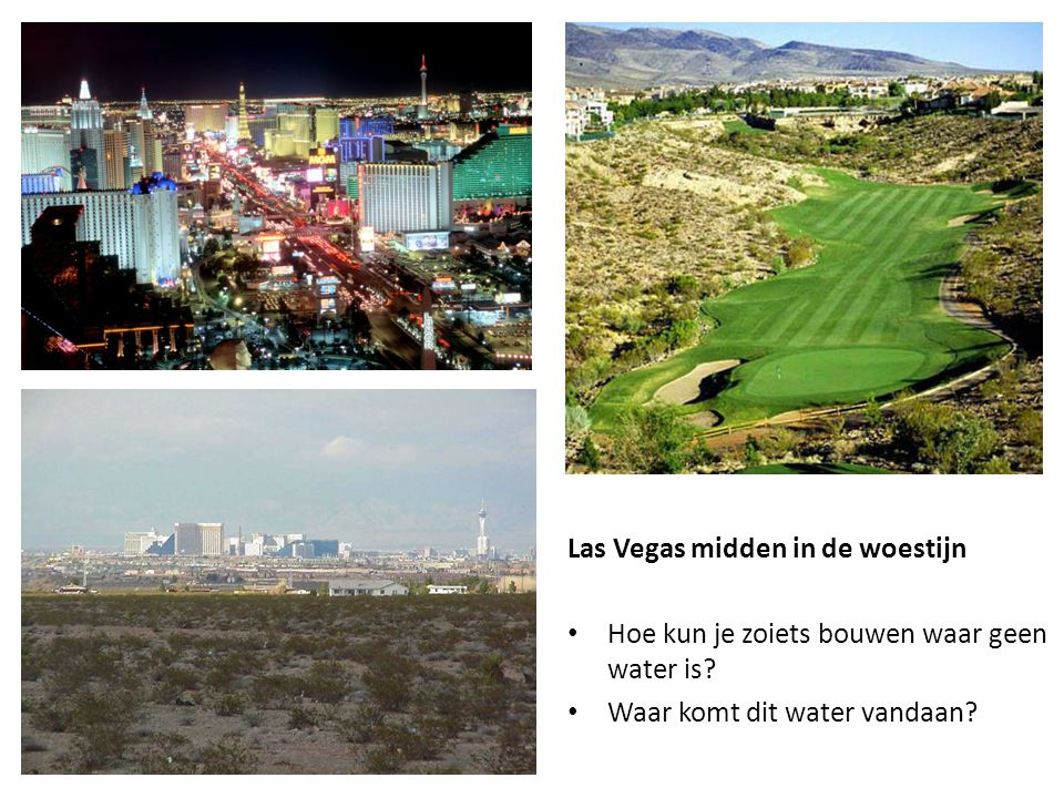 Las Vegas midden in de woestijn