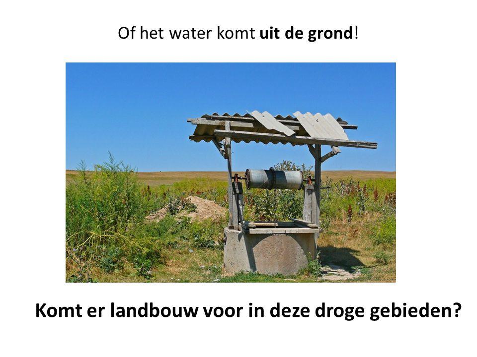 Of het water komt uit de grond!