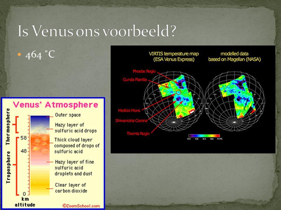 Is Venus ons voorbeeld 464 ˚C