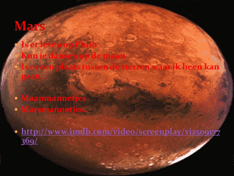 Mars Is er leven op Pluto Kun je dansen op de maan