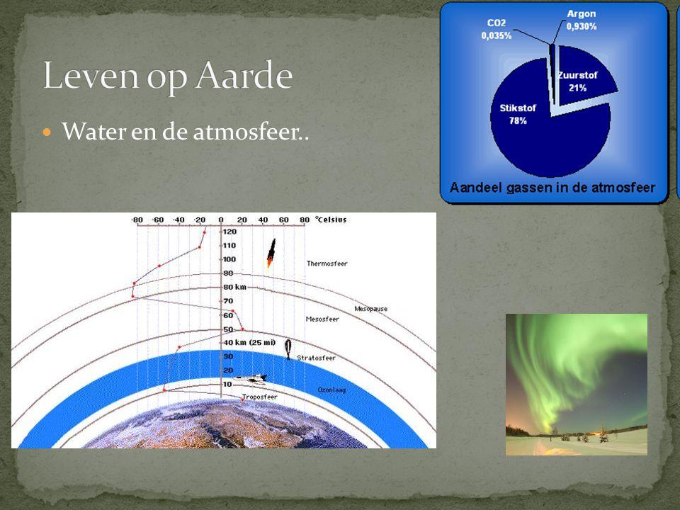 Leven op Aarde Water en de atmosfeer..